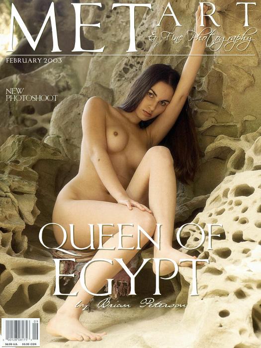 长的像埃及王后的裸模Alyssa山岩外拍_小美女